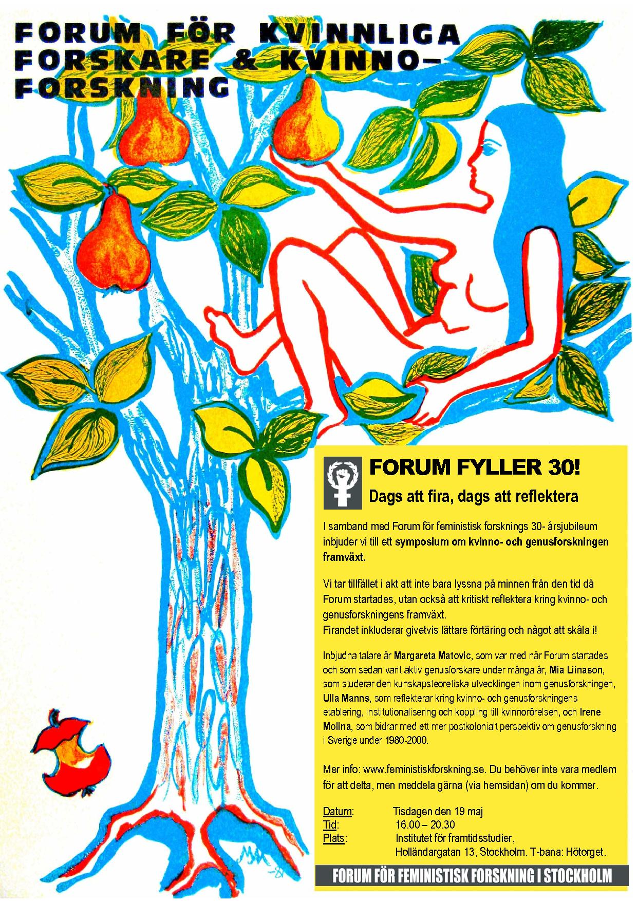 Forum fyller 30 år! Välkomna den 19/5 2009