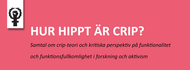 Hur hippt är crip?